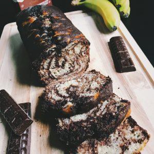 Vegan bananen-chocolade cake