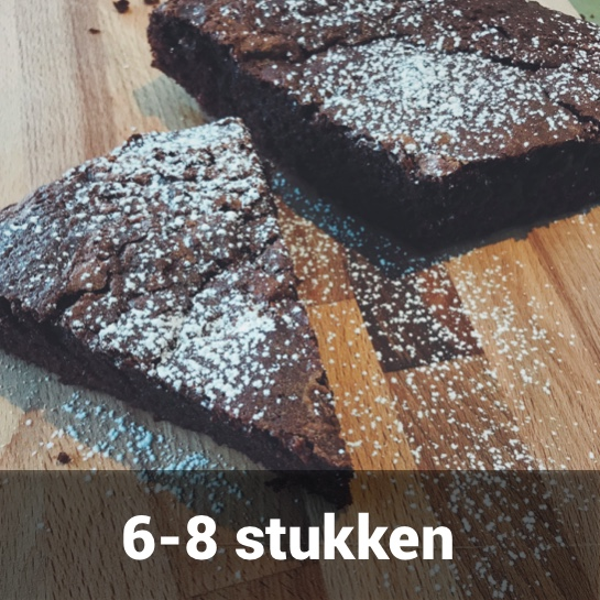 gluten- en lactosevrije chocoladetraart klein