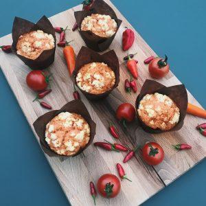 Gini's pittige chili-tomaten-feta Muffin